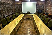 This conference room at the game reserve can cater for up to 20 delegates.