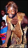 African sangoma or witch doctor